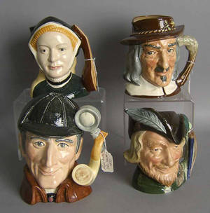 Four Royal Doulton toby mugs to include Jane Seymour