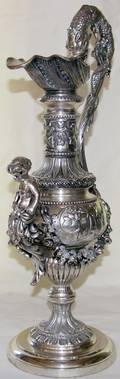 112485 NEOCLASSICAL STYLE SILVER PLATE EWER H238