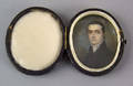 American watercolor on ivory miniature portrait of a gentleman early 19th c