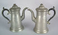 Pair of pewter coffee pots early 19th c