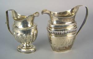 Two Philadelphia silver creamers ca 1815