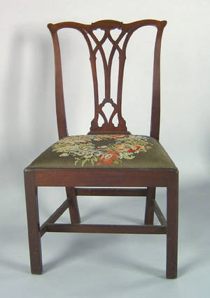 Delaware Valley Chippendale mahogany dining chair ca 1775