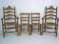Pair of ladderback armchairs