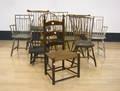 Nine windsor chairs