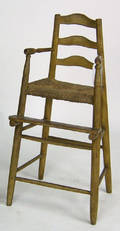 Painted windsor highchair