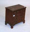 Chippendale style mahogany childs chest