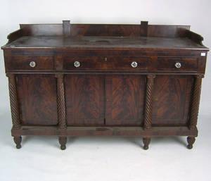 Pennsylvania Empire mahogany sideboard