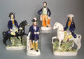 Four Staffordshire figures 19th c
