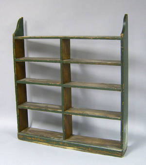 Pennsylvania painted hanging shelf late 19th c