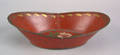 Red tole bread tray 19th c