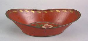 Red tole bread tray 19th c