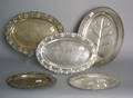 Five silver plated trays