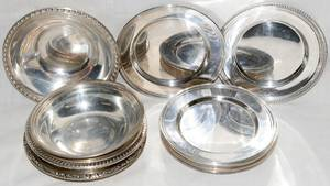 051139 AMERICAN STERLING SILVER BOWLS  PLATES