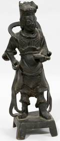 011242 CHINESE BRONZE FIGURE OF A WARRIOR C1860