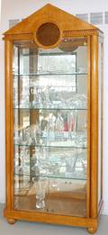 051155 EMPIRE VITRINE WITH TWO GLASS DOORS H 88