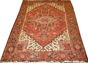 041170 HEREZ PERSIAN RUG C 1950 9 0 X 6 7