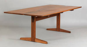 George Nakashima walnut trestle table