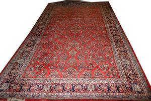 032164 SAROUK WOOL PERSIAN CARPET C 1970S 172