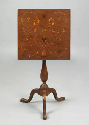 Pennsylvania walnut candlestand late 18th c