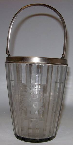 020191 ETCHED CRYSTAL ICE BUCKET H 11 DIA 5