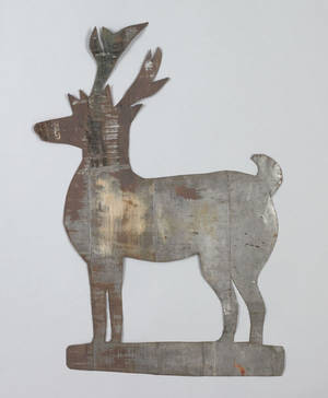 Sheet zinc stag weathervane pattern 19th c
