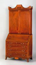 Maryland Federal mahogany secretary bookcase ca 1800