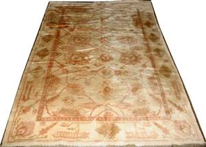 022217 TURKISH OUSHAK PATTERN RUG SEMIANTIQUE