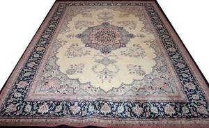 022204 PERSIAN KERMAN WOOL ORIENTAL RUG 113X 86