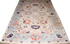 022212 TURKISH OUSHAK PATTERN RUG 8 11 X 8 0