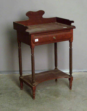 Pennsylvania Sheraton cherry wash stand