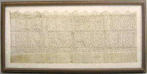 English deed dated 1610