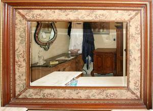 040300 FRAMED MIRROR WITH TAPESTRY MAT H 50 W 60