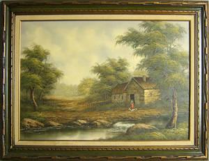 Oil on canvas landscape
