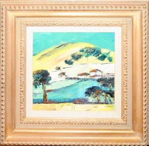 022265 SORAYA OIL ON CANVAS IMPRESSIONIST LANDSCAPE