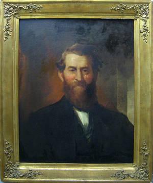 Oil on canvas portrait of Reverend Joseph Spencer