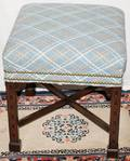 052294 CHINESE CHIPPENDALE STYLE MAHOGANY BENCH