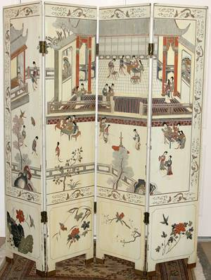 051335 CHINESE COROMANDEL FOURPANEL SCREEN H 72