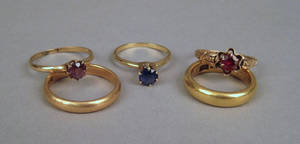 Yellow gold ring grouping