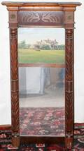 041369 AMERICAN EMPIRE TRUMEAU MIRROR C 1840