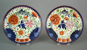 Two Gaudy Dutch soup bowls 19th c