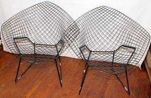 031392 HARRY BERTOIA FOR KNOLL BLACK DIAMOND CHAIRS