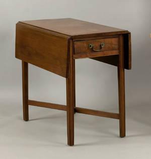 Delaware Chippendale walnut pembroke table ca 1780