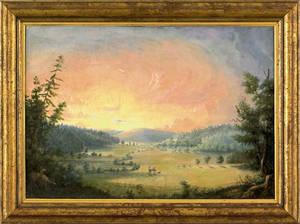 Maryland oil on canvas landscape