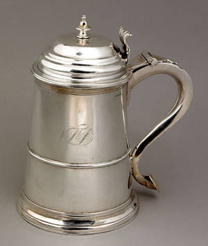 Boston Massachusetts silver tankard ca 1755