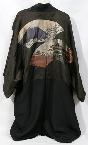 012275 JAPANESE EMBROIDERED SILK KIMONO L43