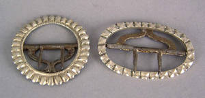 Two Philadelphia silver shoe buckles ca 1800