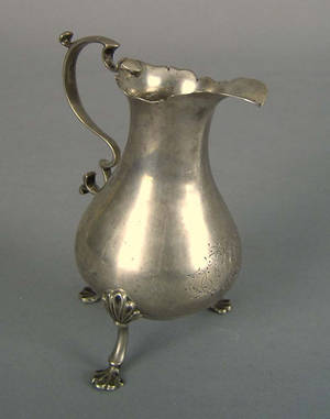 New Jersey or Pennsylvania silver creamer 18th c