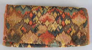 American flame stitch pocket book midlate 18th c