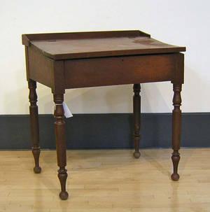 Sheraton stained pine schoolmasters desk