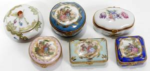 051359 HEREND  LIMOGES PORCELAIN PILL BOXES 5